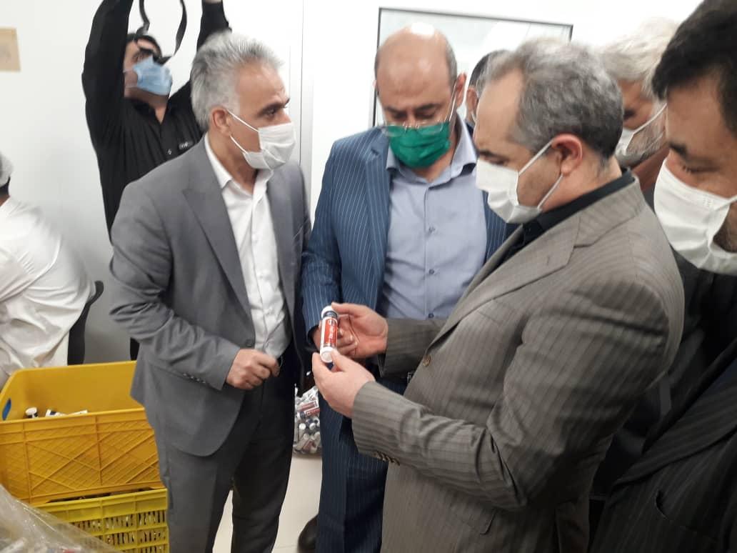 افتتاح خط تولید قرص های جوشان در شهرک صنعتی شکوهیه با حضور دکتر سرمست