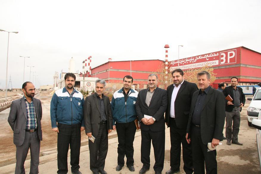 بازدیدرئیس سازمان صنعت،معدن و تجارت از کارخانه پارسیان پارت پاسارگاد در نیزار